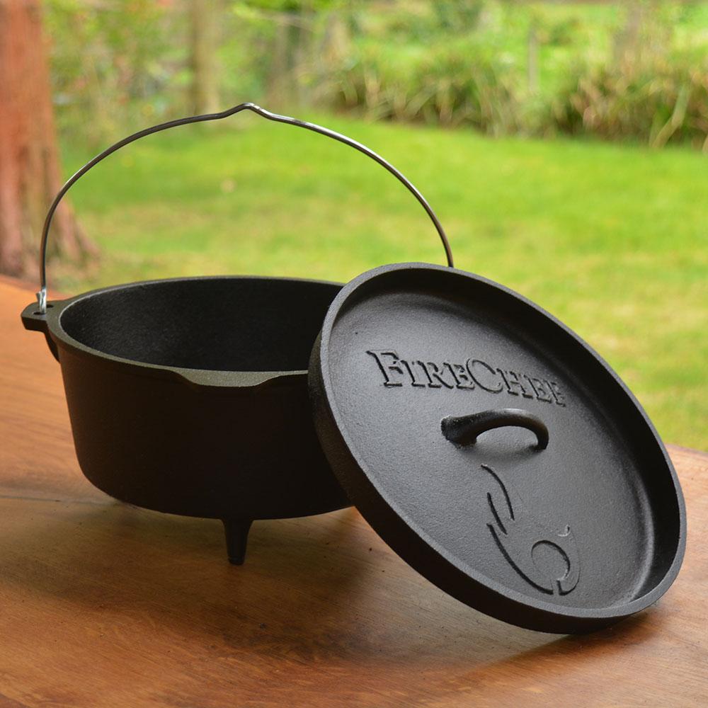 dutch oven cast iron cooking pot firechef cookware. Black Bedroom Furniture Sets. Home Design Ideas