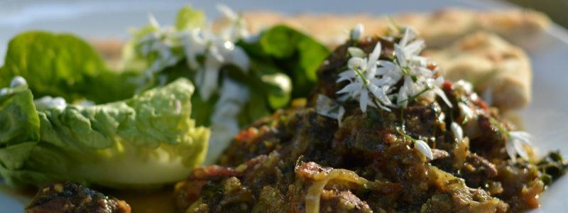Wild Garlic Lamb Vindaloo